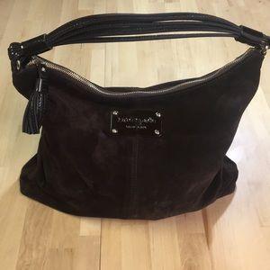 ❄️Chocolate Brown Suede by Kate Spade Shoulder Bag